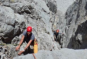 Escalada clasica Picos de Europa - Horcados Rojos