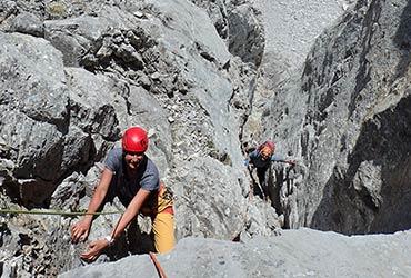 escalada en roca con guía picos